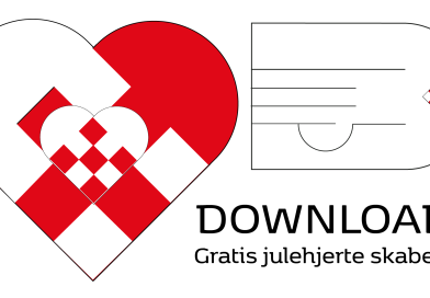 DOWNLOAD: Gratis dobbel julehjerte skabelon