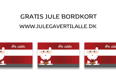 Print selv: Gratis julebordkort med julemanden