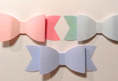 PRINT SELV: Flot fold-selv papir sløjfe