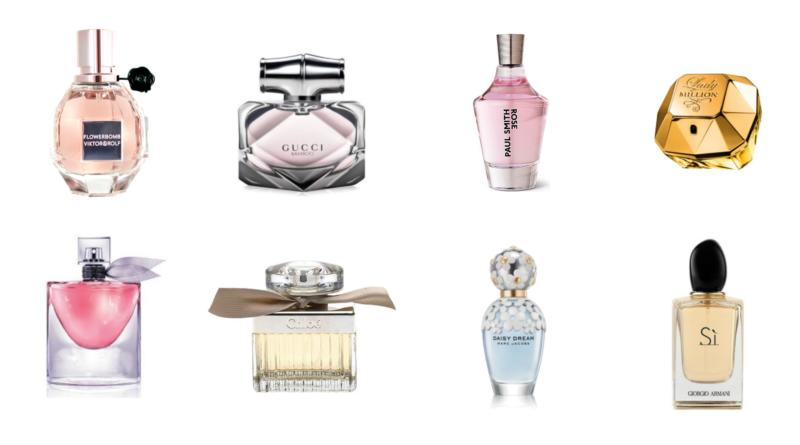De 10 mest populære parfumer til kvinder i 2017